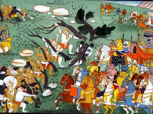 Battle scenes from Ramayana