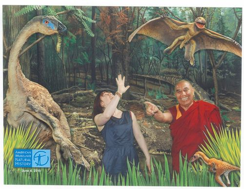 Monk and dinosaurs
